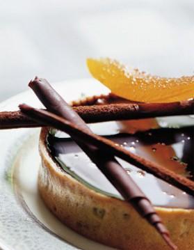 Tarte fine au chocolat et oranges confites pour 6 personnes ...