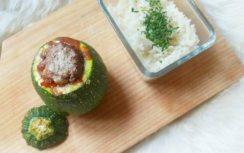 Recette courgettes farcies boeuf-tomates w/ riz basmati ...