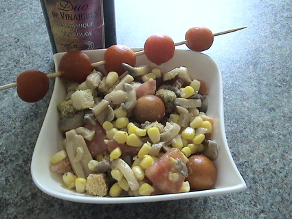 Recette de salade croquante au duo de vinaigre