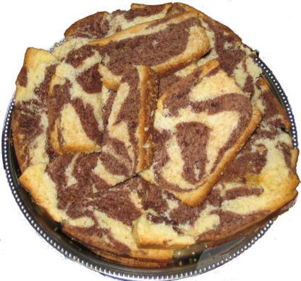 Recette de gateau marbré chocolat/vanille