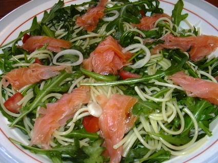 Recette de salade au saumon fumé