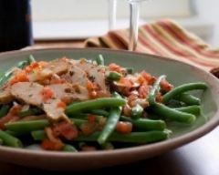 Recette haricots verts à la tomate