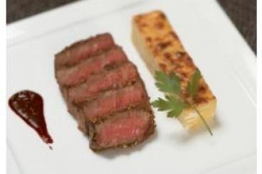 Recette de filet de boeuf au poivre noir, sauce bordelaise, gratin ...