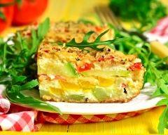 Recette frittata aux légumes du soleil