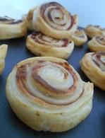 Recette de roulés feuilletés jambon et boursin®