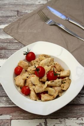 Recette émincé de dinde au balsamique, tomates cerises et parmesan