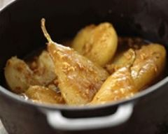 Recette mini-cocottes de poires au pain d'épices