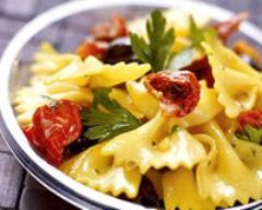 Recette salade de farfalles aux tomates confites