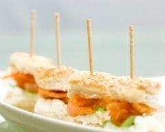 Recette mini hamburgers au saumon