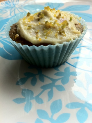 Recette de cupcakes myrtille, glaçage citron