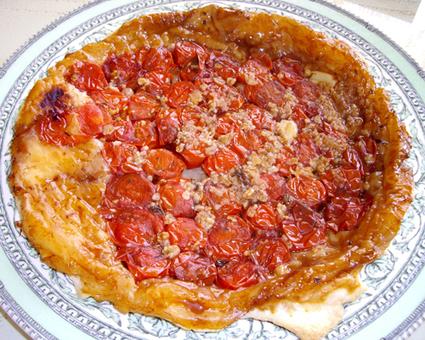 Tatin de tomates cerises au caramel balsamique