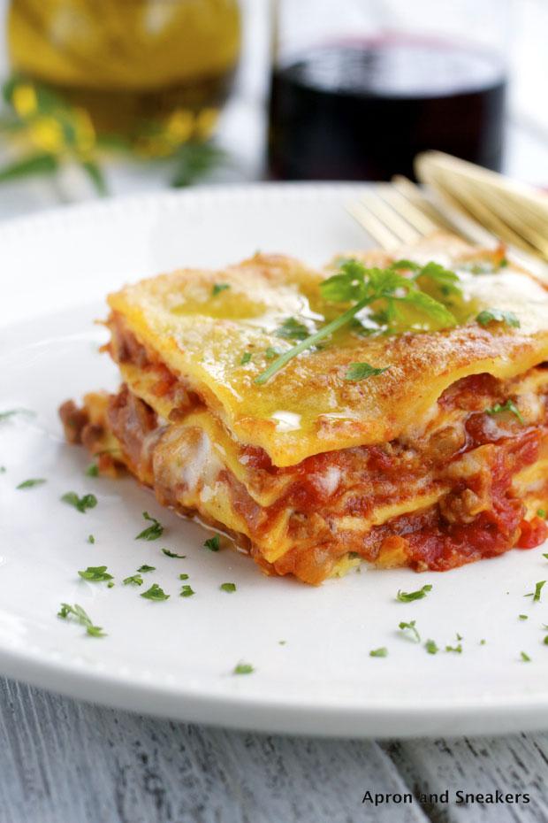 Recette lasagne à la bolognaise italienne