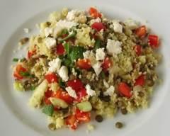 Recette salade de couscous et lentilles