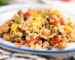 Recette salade de riz aux raisins secs
