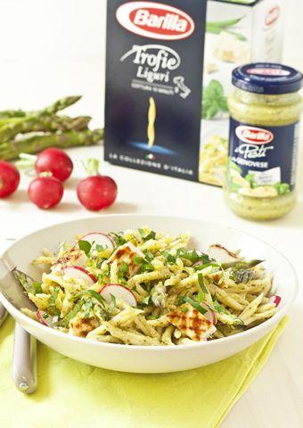 Recette salade de trofie au pesto genovese et légumes de ...