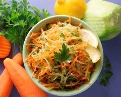 Recette salade de chou vert aux carottes et aux raisins