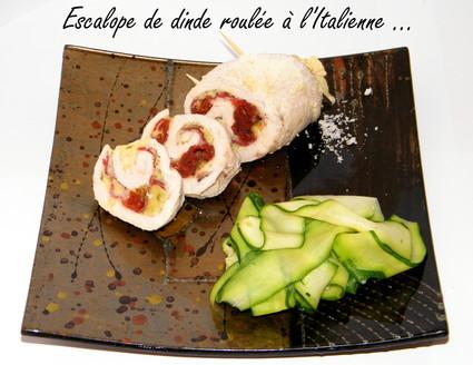 Recette escalope de dinde roulée à l'italienne