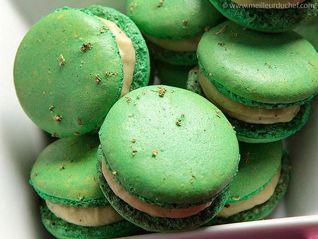 Macaron chocolat blanc thé vert matcha  recette de cuisine ...