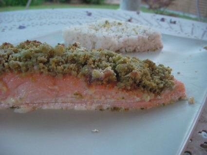 Recette de saumon en croûte de pesto