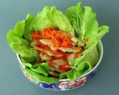 Recette salade de concombres et carottes à la thaï