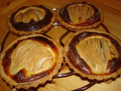 Recette de tartelettes poires-chocolat
