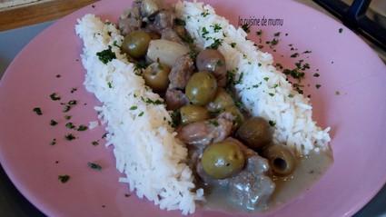 Recette de fricassée de veau aux olives vertes