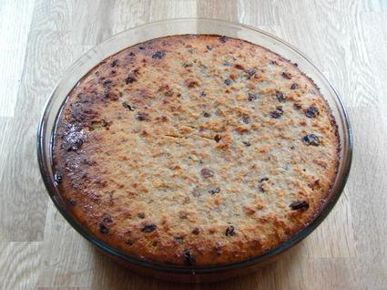 Recette de pudding de pain aux raisins