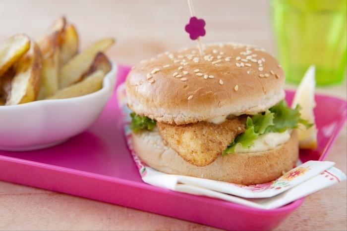 Recette de fishburger et potatoes rapide