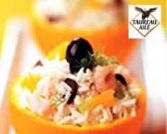 Recette salade de riz thaï primeur aux crevettes, oranges, fenouil ...