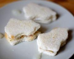 Recette sandwichs cloches de pâques chèvre frais et cumin