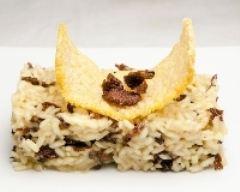 Recette risotto aux girolles avec ses tuiles de parmesan