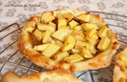 Recette de tartelettes aux pommes à la crème de spéculoos