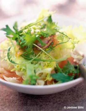 Salade de saumon mariné, sauce passion pour 6 personnes ...