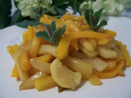 Recette de poêlée de poivrons et courgettes à la marocaine