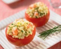 Recette tomates surprises à l'ebly et aux crevettes