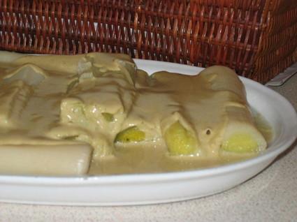 Recette de blancs de poireaux à la sauce curry
