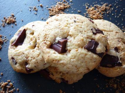 Recette de cookies au pralin et aux deux chocolats