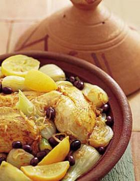 Tajine de poulet aux fenouils pour 4 personnes