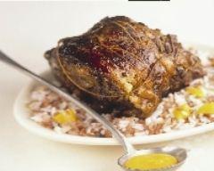 Recette rôti de porc au coulis de mangue et aux deux riz