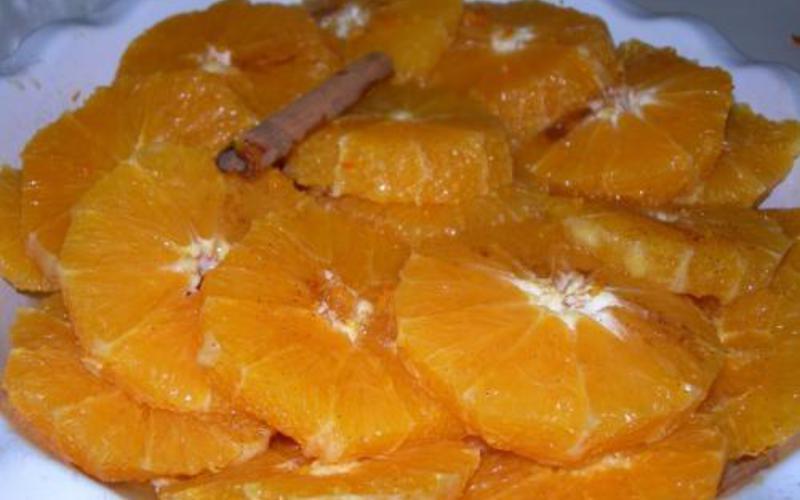 Recette oranges de noël pas chère et instantané > cuisine étudiant