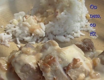 Recette de filet mignon de porc au maroilles et vin blanc