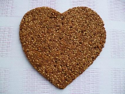 Recette de biscuit coeur végan cru sarrasin-cacao-coco-graines de ...
