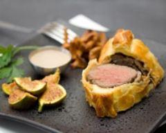 Recette filet de bœuf en croûte aux girolles et aux figues