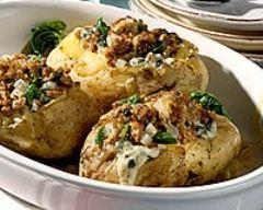Recette pommes de terre fourrées aux épinards