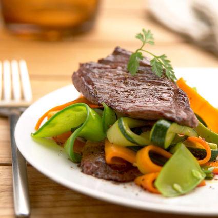 Recette de sauté d'onglet de bœuf de chalosse aux petits légumes ...