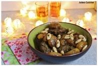 Recette de tajine de boeuf, aux abricots et aux amandes