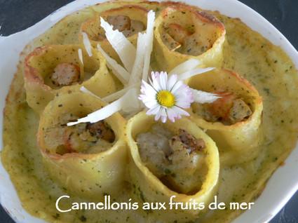 Recette de cannellonis aux fruits de mer