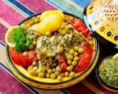Recette spécial tajine épicé au cabillaud et légumes