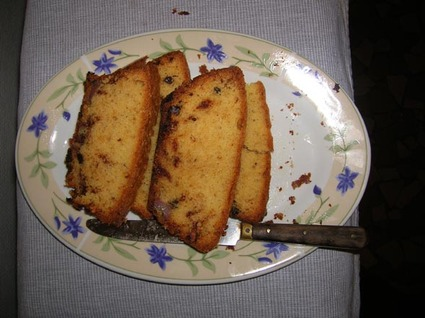 Recette de cake chocolat et bananes caramélisées