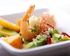 Recette salade crevettes-avocat et noix de coco